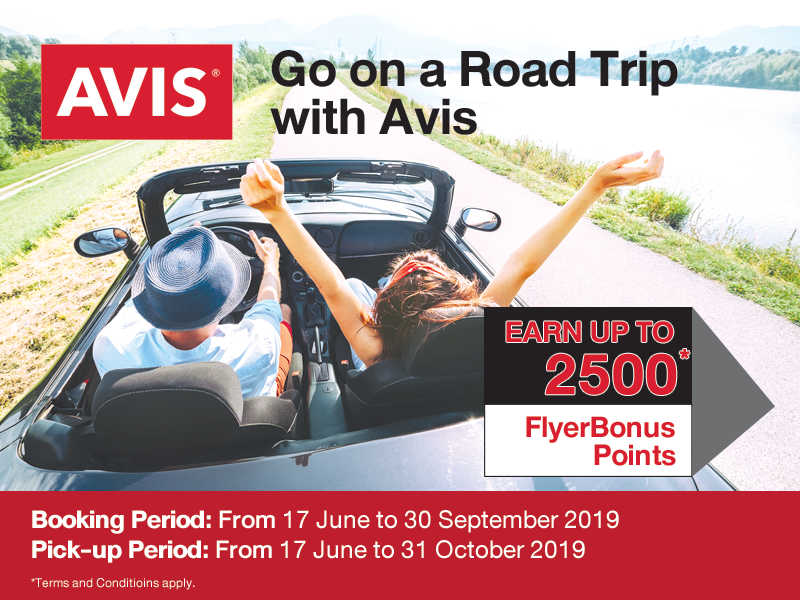 Road Trip With Avis Earn Up To 2 500 Flyerbonus Points